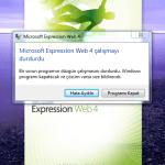 Expression Web 4 çalışmayı durdurdu hatası