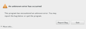 "Centos 7 Kurulum ""This program has encountered an unknown error. You may report the bug below or quit the program."" Hatası"